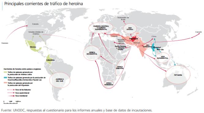 heroina mapa