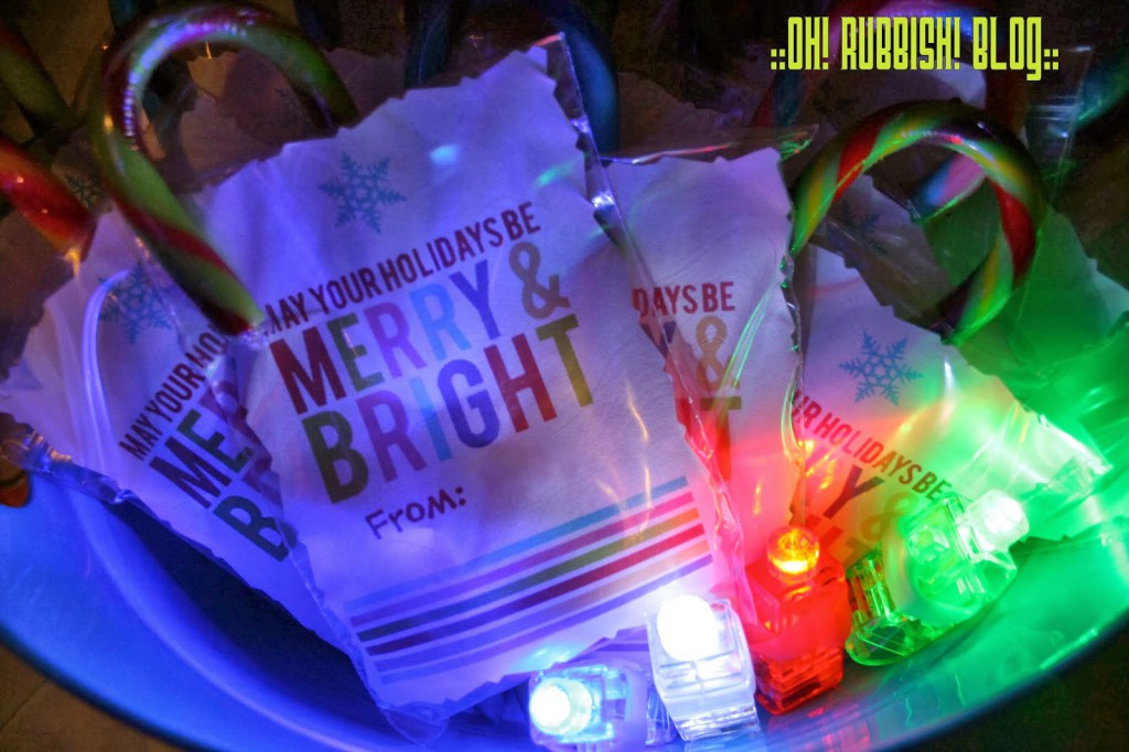 May Your Holidays Be Merry  Bright  LED Finger Lights