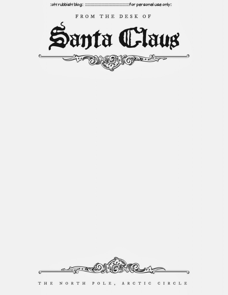 :: Santa Letter Template Free Printable :: Thanks for the