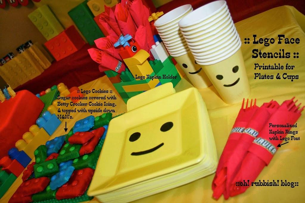 Lego Birthday Templates Lego Birthday Plates Lego