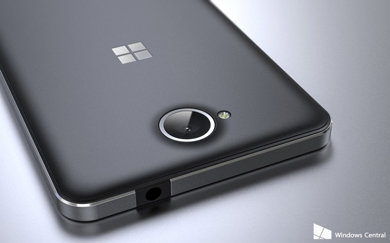 Beautiful metal body of the Lumia 650. Photo from Windows Central.
