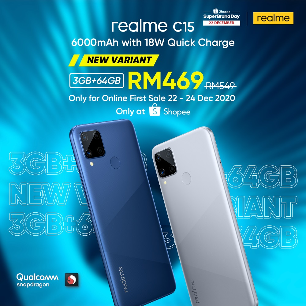 realme C15 3GB+64GB Will Be Available In Malaysia Soon