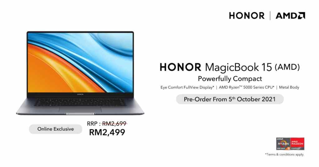 HONOR MagicBook 15 AMD is Available for Pre-Order