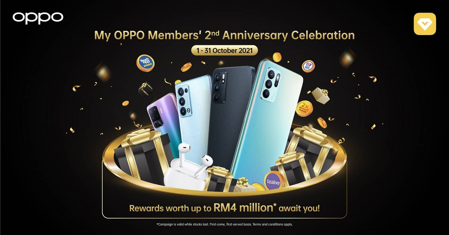 Get RM100 off During My OPPO Members' 2nd Anniversary Celebration