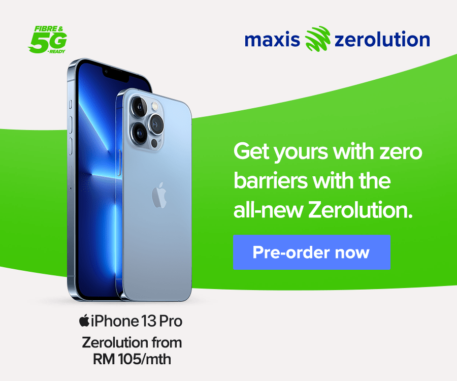 Maxis Makes Owning iPhone 13 More Affordable With The All-New Zerolution 36 Months
