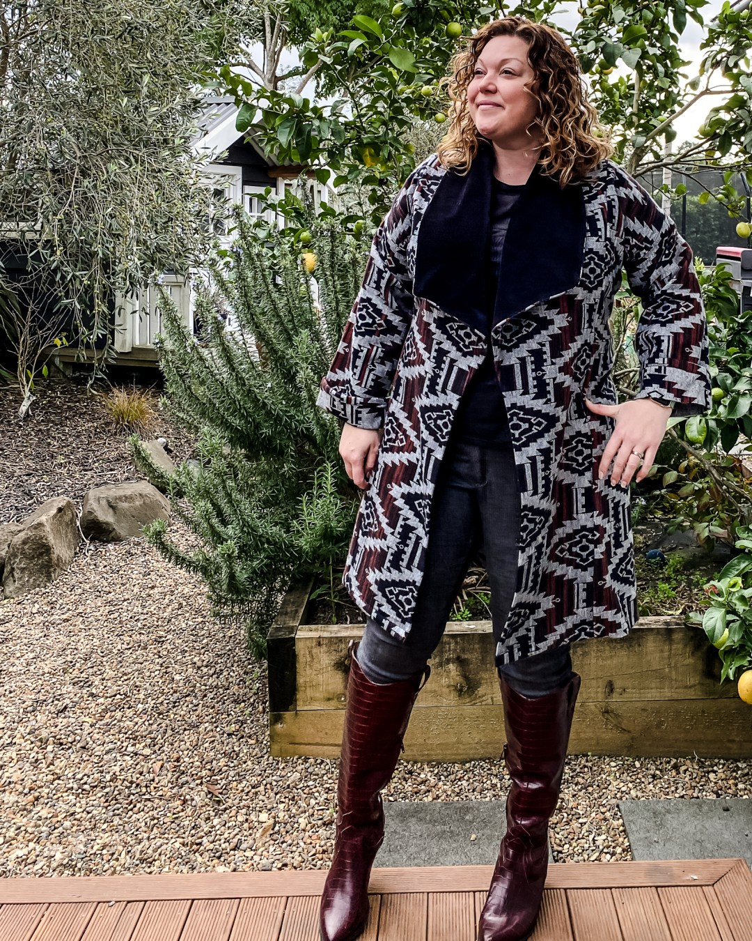 Friday Pattern Co Cambria Duster Made and worn by Oh Sew Fearless