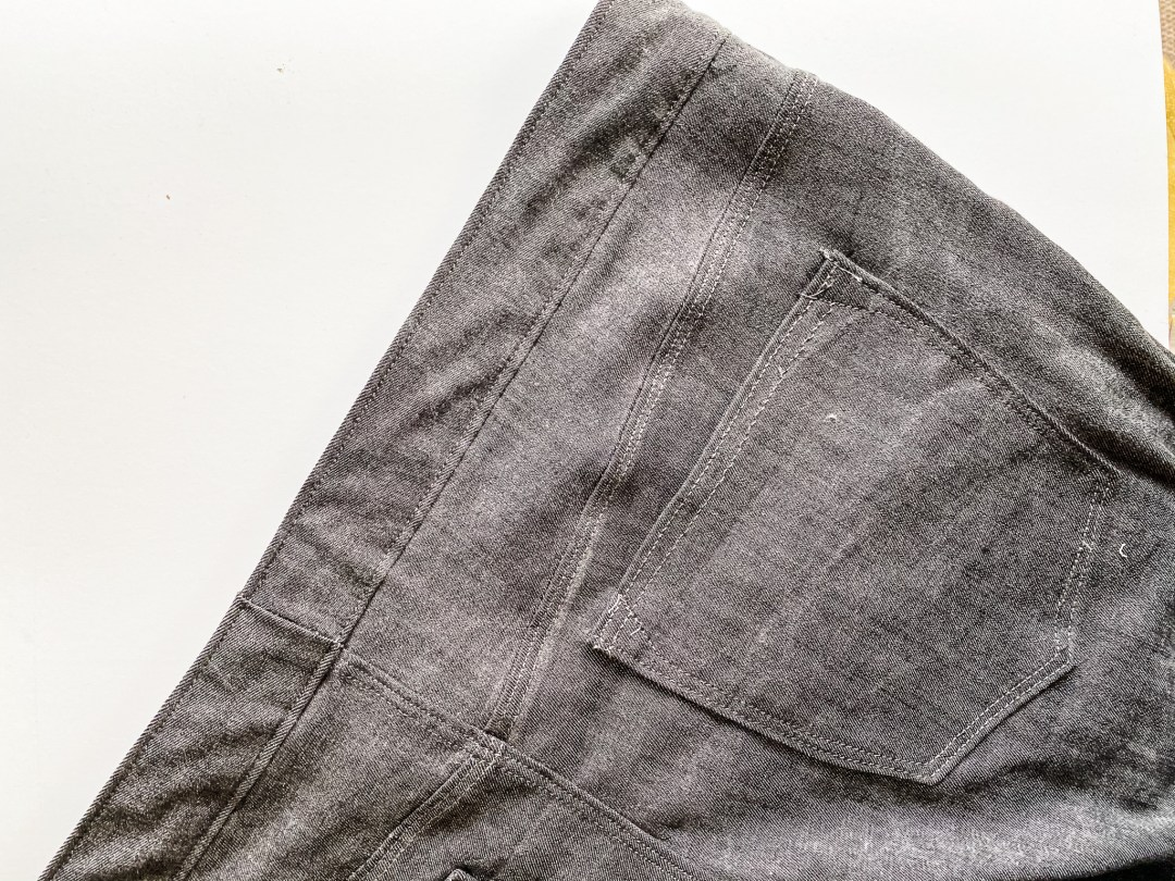 Gonger Jeans pattern back pockets - pattern review by oh sew fearless