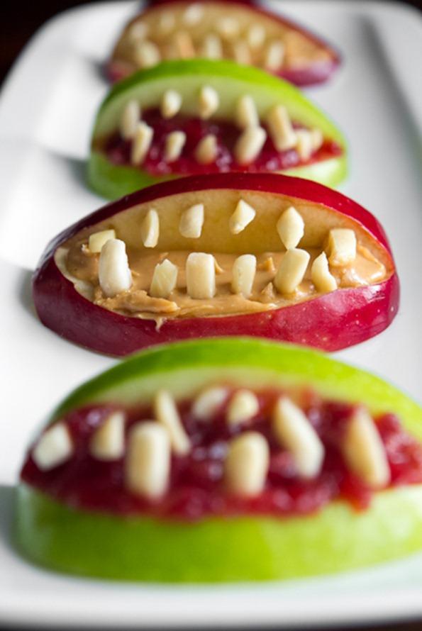 halloween apple bites 7002   3 Ingredient Halloween Apple Bites