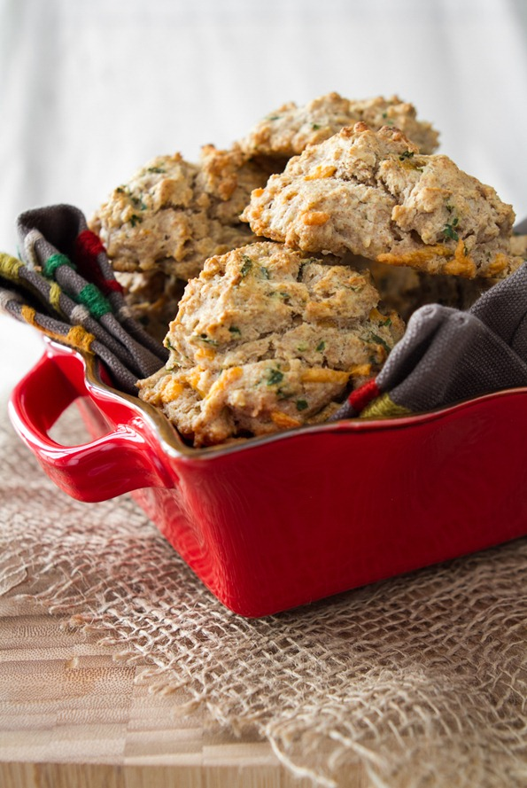 drop biscuits 7978 thumb   Herb & Cheese Drop Biscuits… with a secret ingredient!