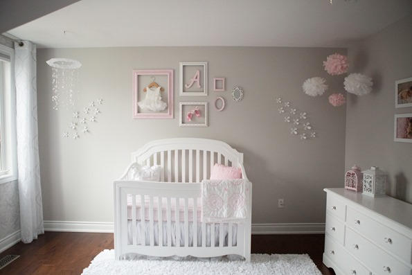 Pink and Gray Baby Girl Nursery Tour  Oh She Glows
