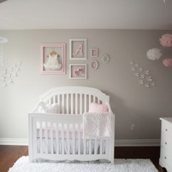 Glider Chair For Nursery Desk Kneeling Pink And Gray Baby Girl Tour — Oh She Glows