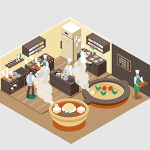 アツアツの料理を提供するレストランのイメージ画像