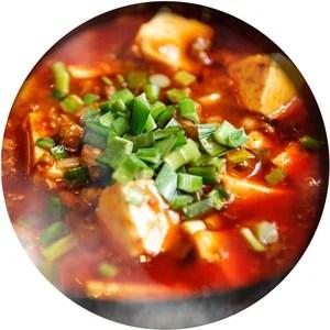 麻婆豆腐の調理例