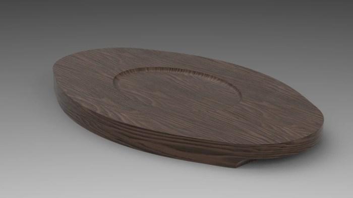 3Dで設計した木台の画像