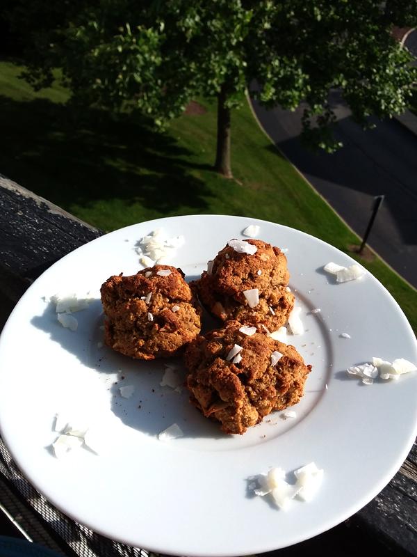 Banana Walnut Coconut Cookies