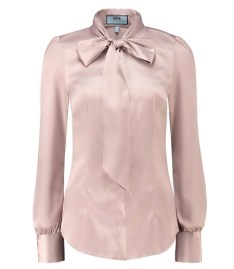 Taupe Pussybow Blouse