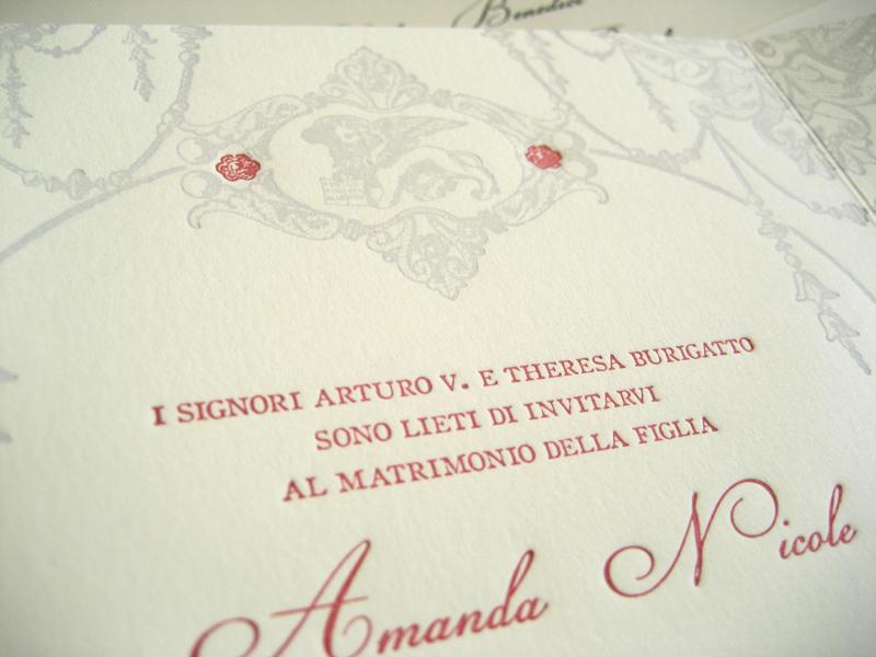 James Amanda S Vintage Inspired Italian Wedding Invitations