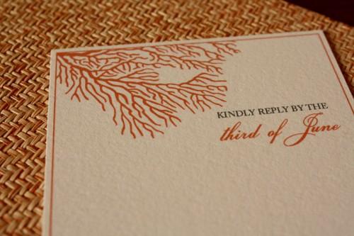 Coral Sea Wedding Invitations 500x333