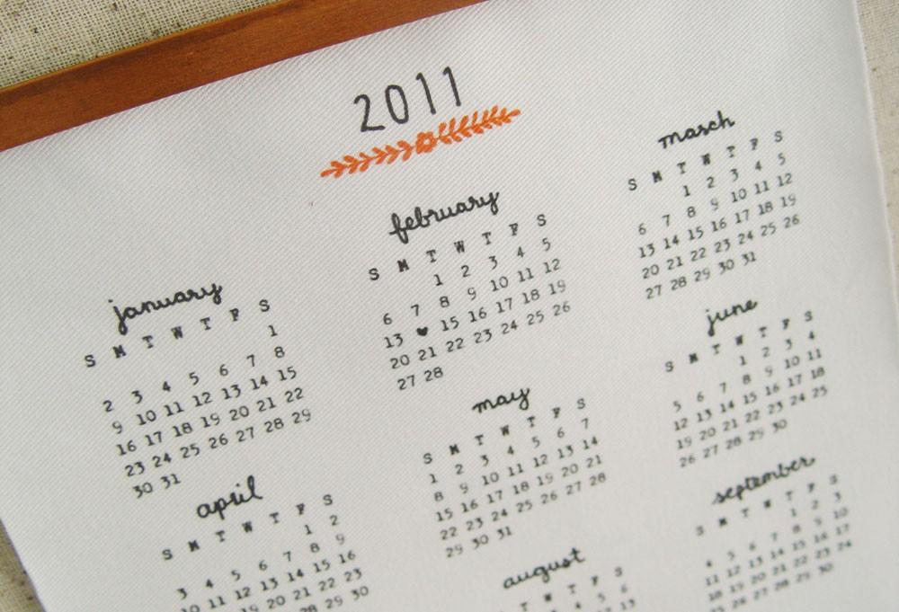 2011 Calendar RoundUp Part 1