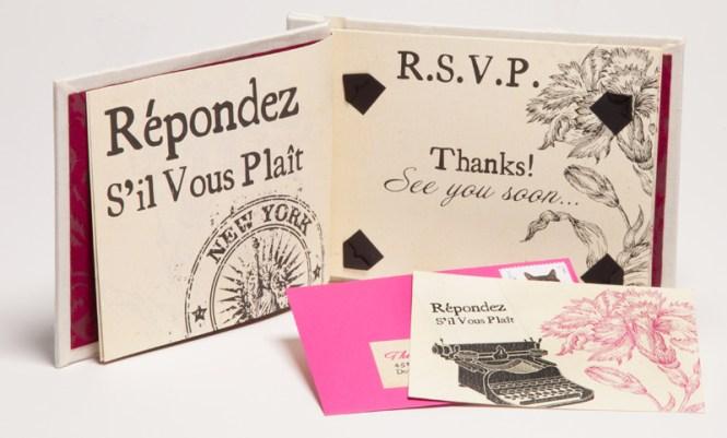 Edward S Hardcover Book Wedding Invitations