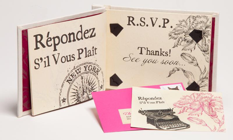 Creative Book Custom Wedding Invitations Rsvp