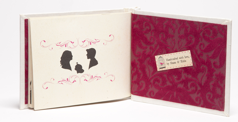 Creative Book Custom Wedding Invitations Silhouettes