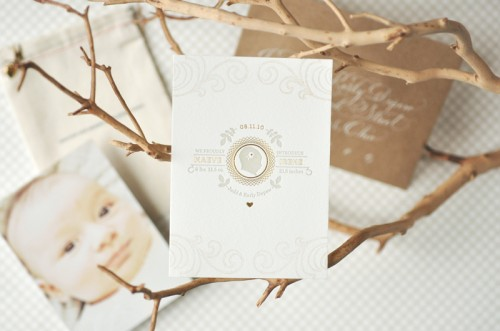 Organic-Gray-Gold-Baby-Announcement