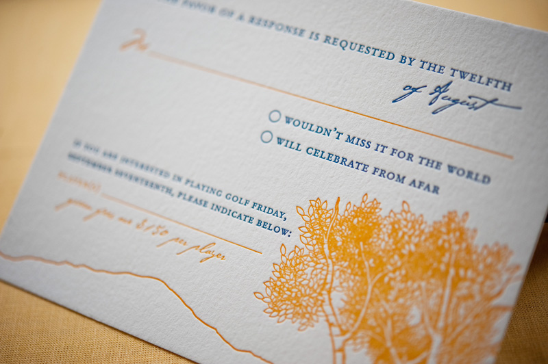 Colorado Rocky Mountains Blue Yellow Wedding Invitations Rsvp