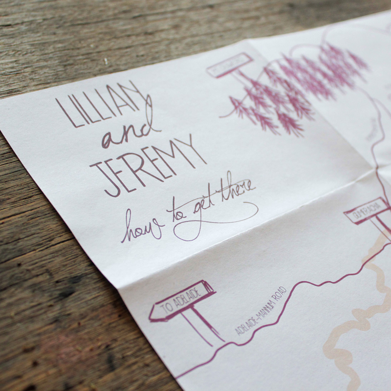 Earthy Wood Handwriting Wedding Invitation Akimbo Detail