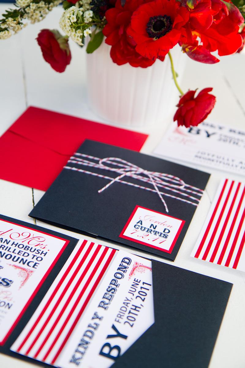 Red White  Blue Wedding Stationery Inspiration