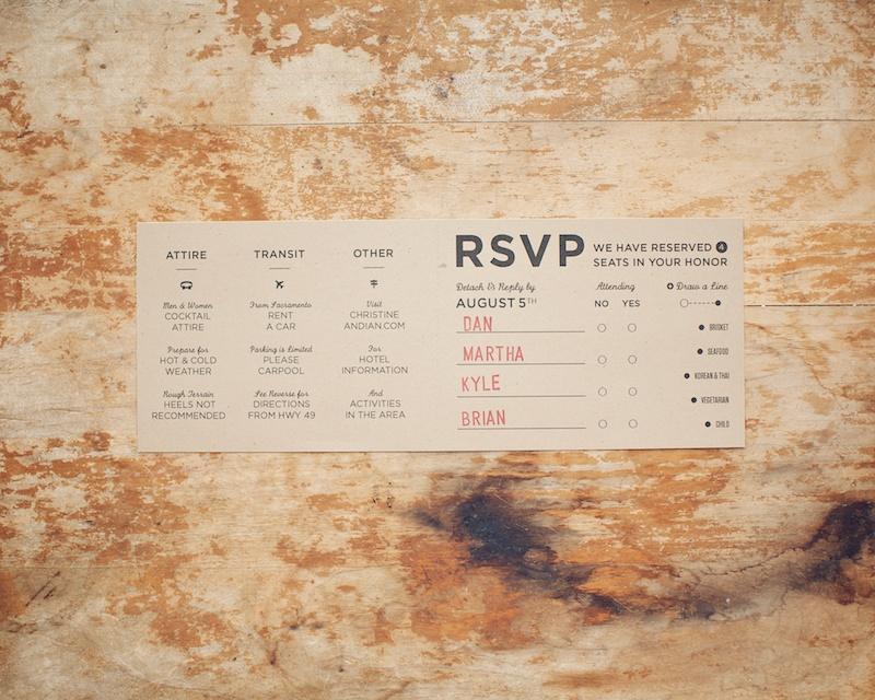 Diy Woodland Cutout Wedding Invitation Rsvp
