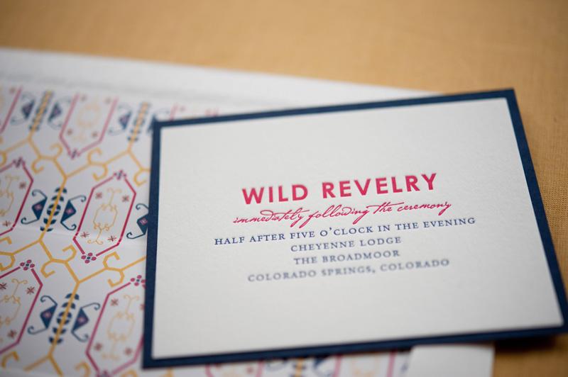 Custom Modern Letterpress Wedding Invitations By Gus Ruby