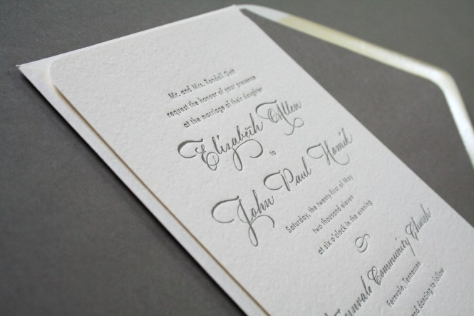 Brown Simple Love Layered Wedding Invites Iwfc007