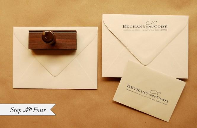 Diy Rubber Stamp Banner Wedding Invitations