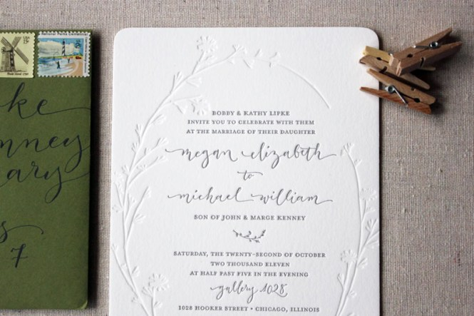 Gold Foil Calligraphy Wedding Invitations Lahappy Osbp5