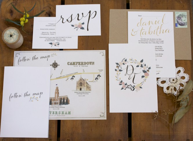 Whimsical Ilrated Wedding Invitations
