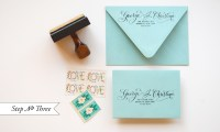 "DIY ""Little Blue Box"" Inspired Rubber Stamp Wedding"