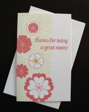 Anemone Letterpress Mothers Day Card 300x375 Mothers Day Cards, Part 2
