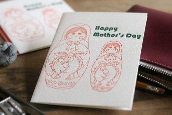 Darlin Press Letterpress Mothers Day Card 550x366 Mothers Day Cards, Part 3