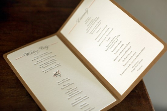 Mary  Bens Elegant and Rustic Dayof Wedding Stationery