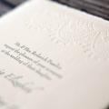 Blackbird letterpress wedding invitations vintage lace