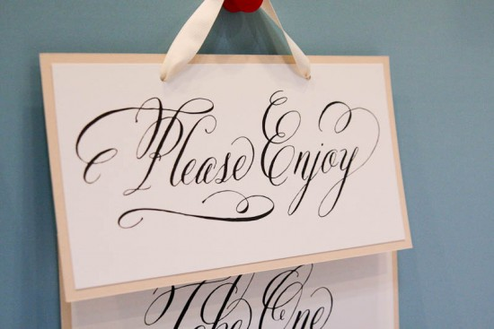 wedding signs | Lettering Art Studio