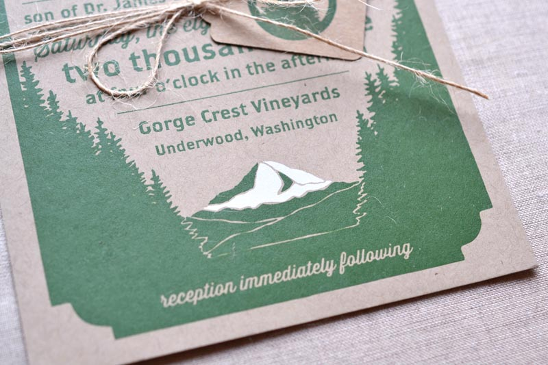 Woodland Wedding Invitations By Paper Bloom Via Oh So Beautiful 2