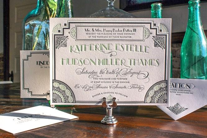 Great Gatsby Inspired Art Deco Wedding