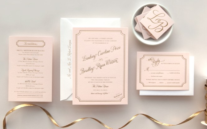Lindsey Bradley S Elegant Pink And Gold Foil Wedding