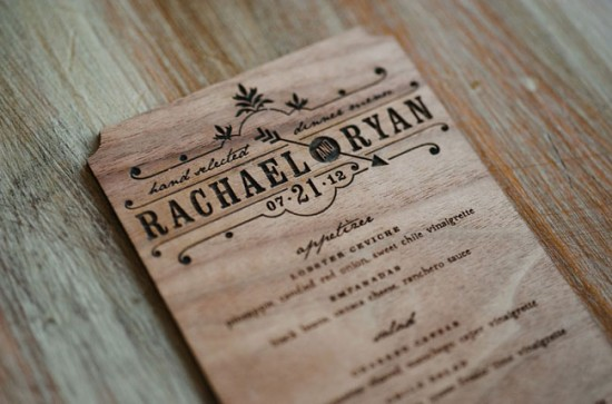 Wedding Stationery Inspiration Wood Faux Bois