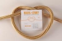 "Jenny + Mark's ""Tie the Knot"" Letterpress Wedding Invitations"