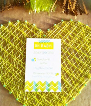 1x1.trans Modern Neon Baby Shower Invitations + Decorations