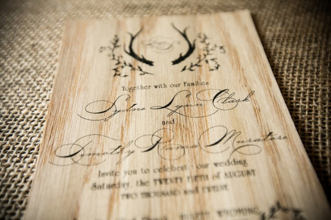 Tim S Rustic Wood Wedding Invitations
