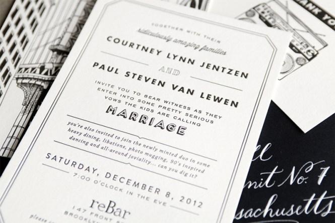 Paul S Brooklyn Wedding Invitations